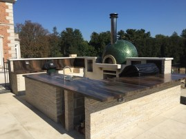 Elegan Brown outdoor kitchen countertop