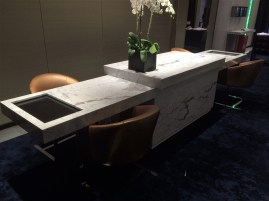 Arabescato stone desk
