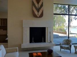 Novelda Cream Travertine fireplace