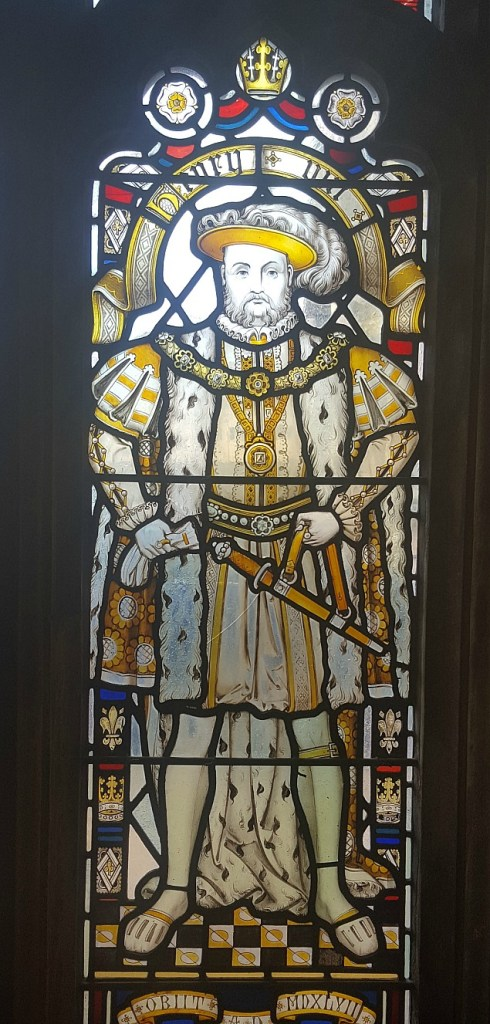 Henry VIII stain glass window Bristol Cathedral