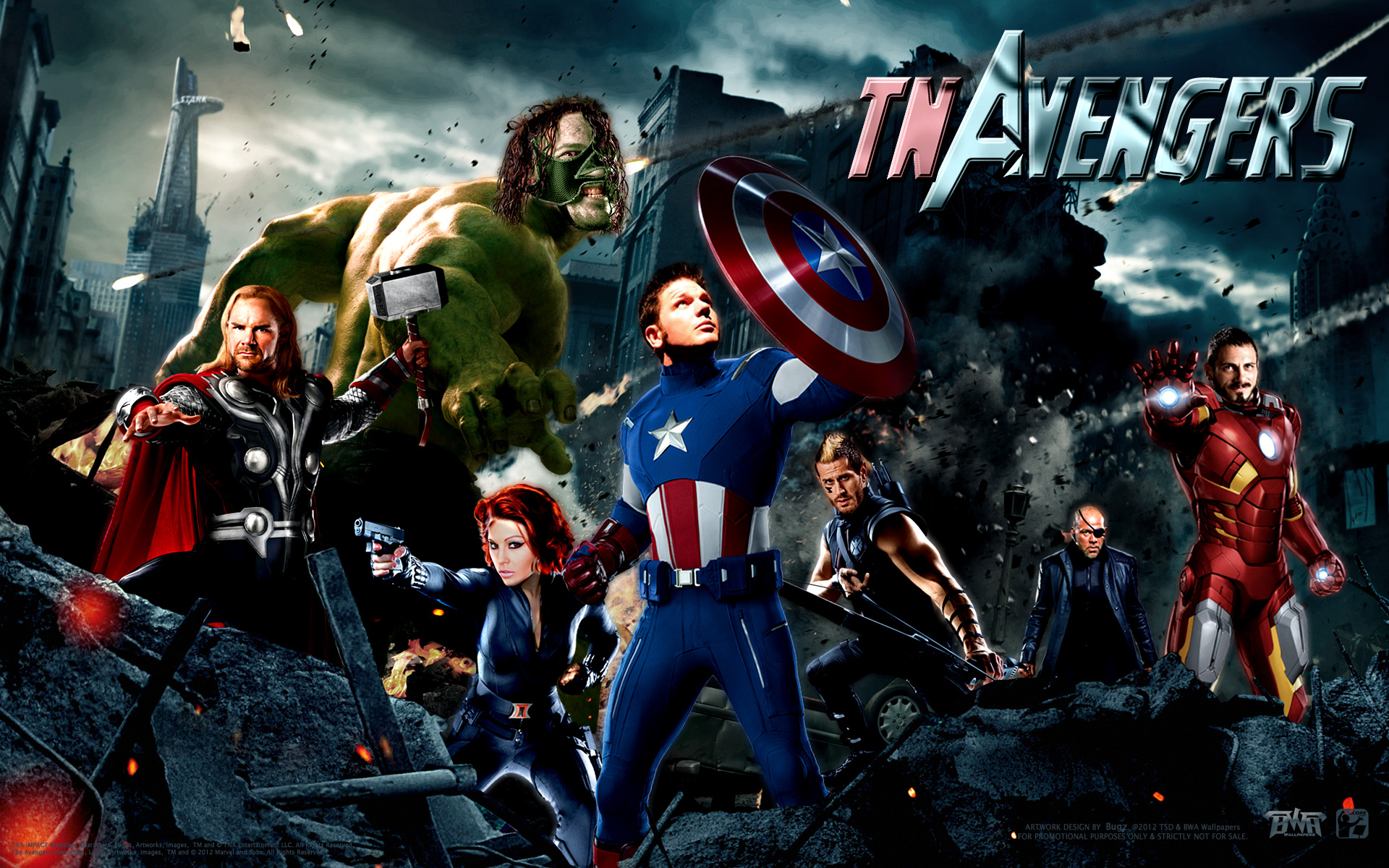 TNA Impact Avengers Wallpaper BUGZ Wrestling Wallpapers