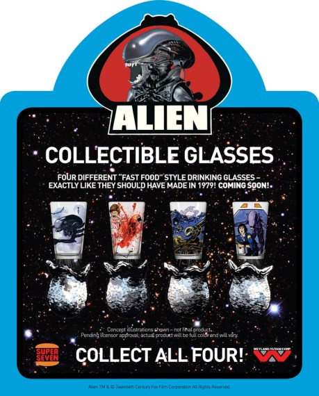 Super 7 Alien Glasses Set