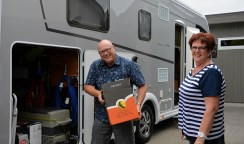 Gary and Dianne loading Rosie