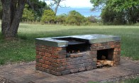 Nice Bbq's with the wood all stacked ready to go.
