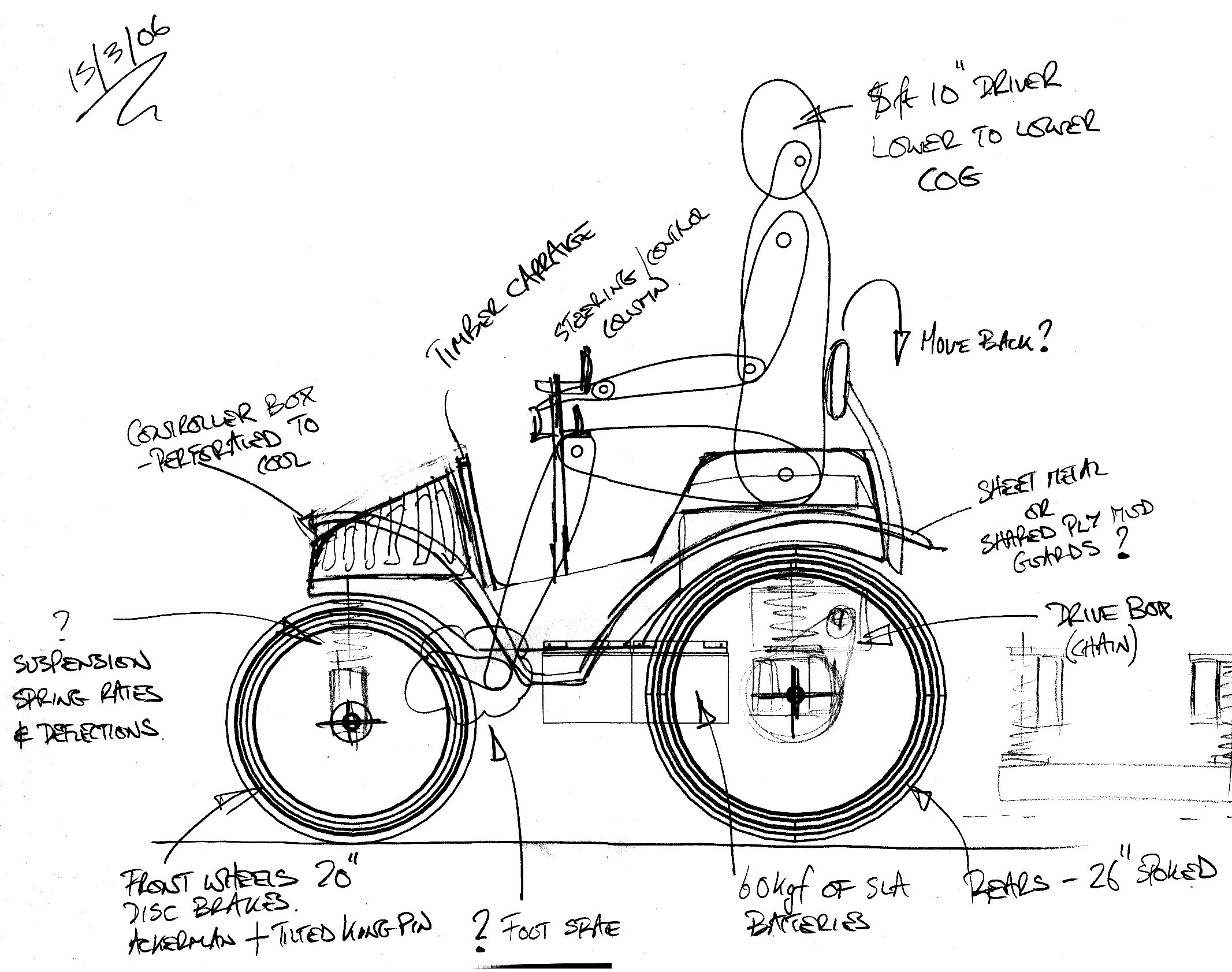 Plans For 3 4 Scale Electric Veteran Style Voiturette