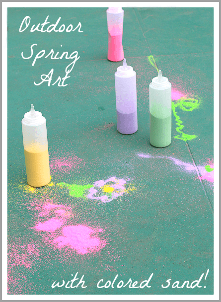Spring Activities For Kids Drawing Outside With Spring