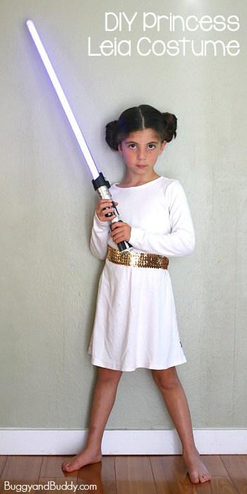 Easy Princess Leia Costume Buggy And Buddy