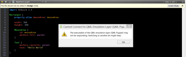 [QDS-721] Cannot Connect to QML Emulation Layer (QML ...