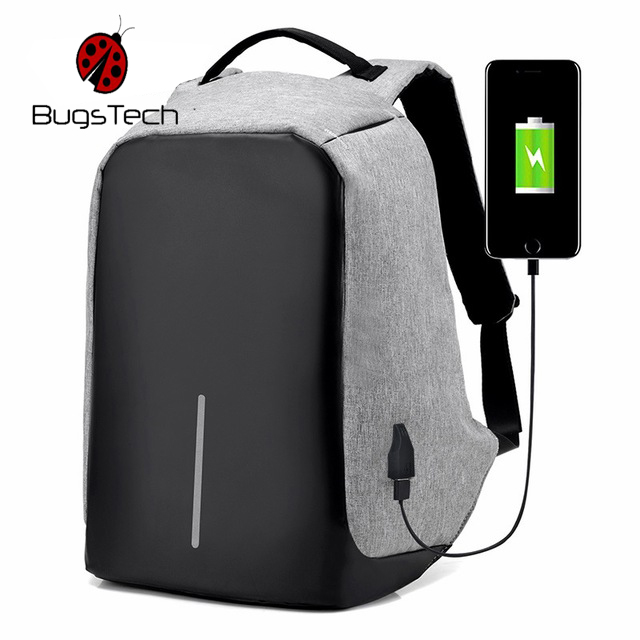 BugsTech High Quality Unisex Backpacks Oxford Anti Theft Backpack ... 8681cf3330bcd