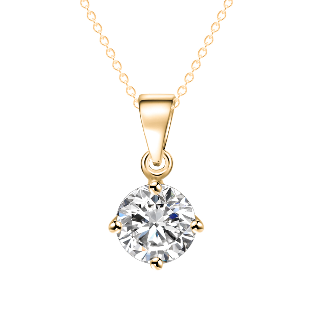 IF ME Simple Fashion Jewelry Silver and Gold Color Round Shape CZ ...