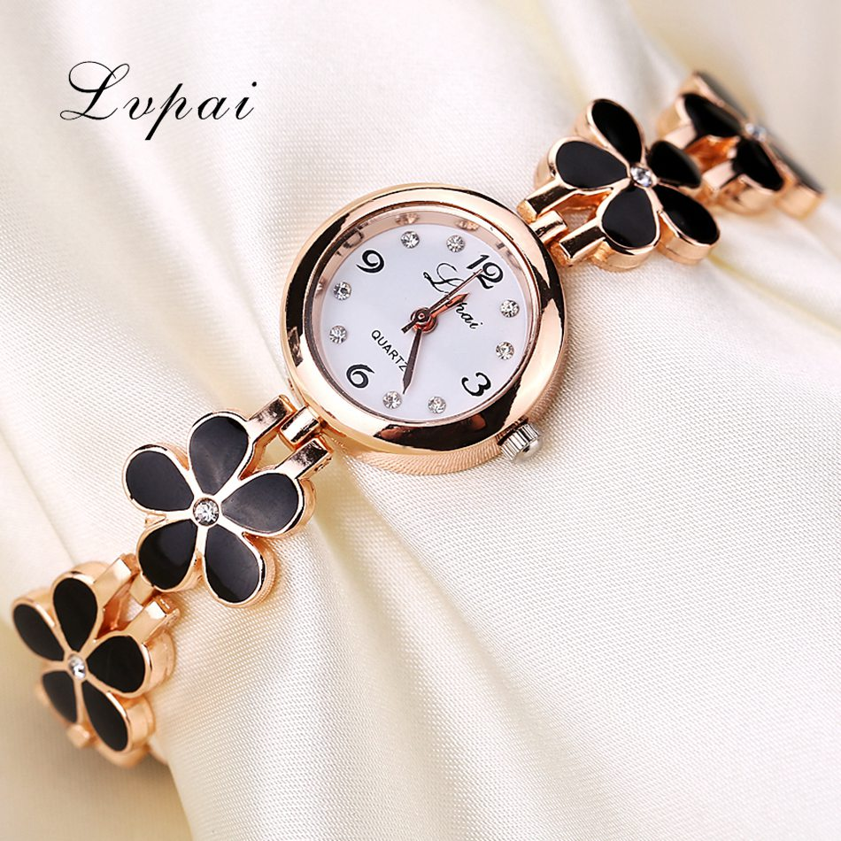 537e805934 Lvpai Brand Luxury Crystal Gold Watches Women Fashion Bracelet Quartz  Wristwatch Rhinestone Ladies Fashion Watch Dropshiping