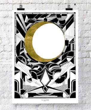 gold_larger_halfmoon_screenprintposter_chrysakoukoura