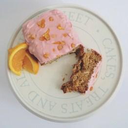 Vegan pink marmalade cake