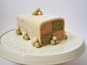 Vegan Matcha and Chai Battenberg