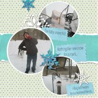 homeschooling outside in the snow 2