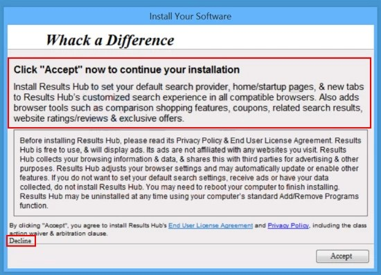 results hub installer
