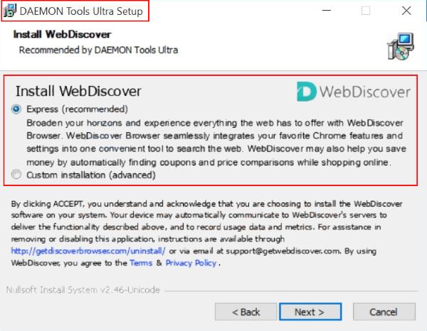 webdiscover browser installer