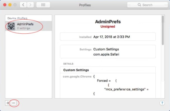 remove Goto-searchitnow.global.ssl.fastly.net profile from system preferences