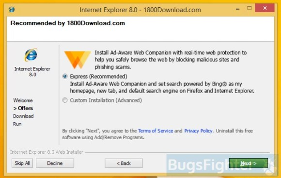 how to remove avast online security from internet explorer