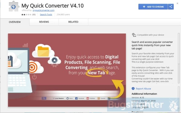 my quick converter extension