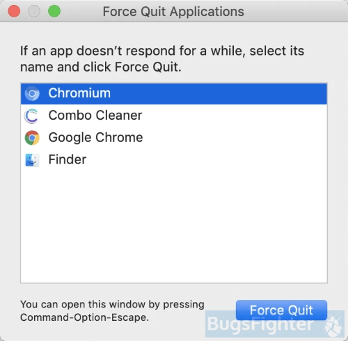 Chrome force quitter