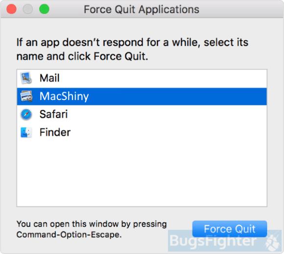 MacShiny force quit