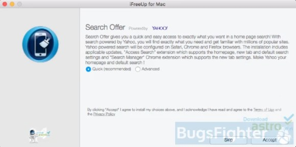 yahoo search add-on installer