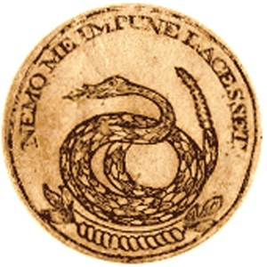 Seal from a 1778 $20.00 bill from Grorgia