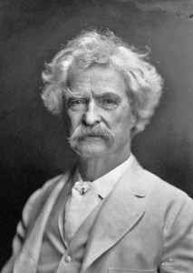 Samuel Langhorne Clemens (Mark Twain) as photographed by A F Bradley in 1907