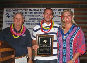 Marina Assn of Texas Presentation of 2011 Clean Texas Marina of the year Award to Walden Marina