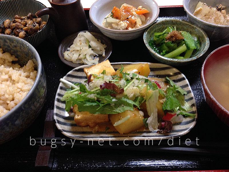 昼食 無農薬野菜定食