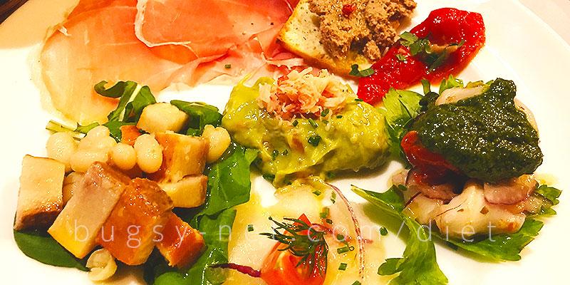 トラットリア タンタボッカ (trattoria Tanta Bocca)のディナーコースの前菜(Antipasto)