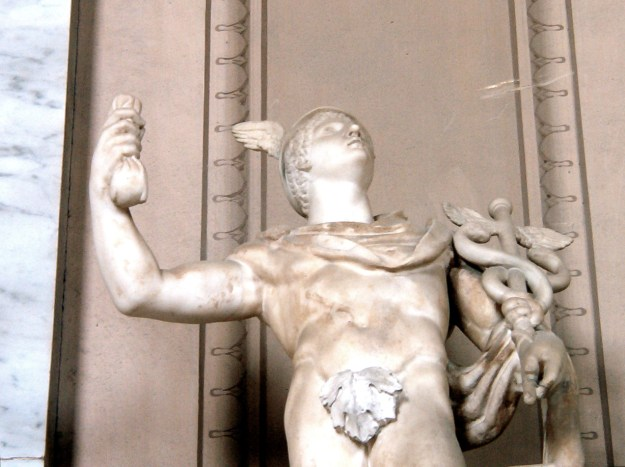 Photo Four (Mercury) by By Original uploader was Sputnikcccp at en.wikipedia. Photo taken by Sputnikcccp in the Vatican, May 25, 2003. - Transferred from en.wikipedia, CC BY-SA 3.0, https://commons.wikimedia.org/w/index.php?curid=3435725