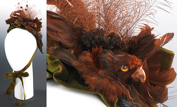 Photo Two from http://www.victoriana.com/victorian-feather-hats/