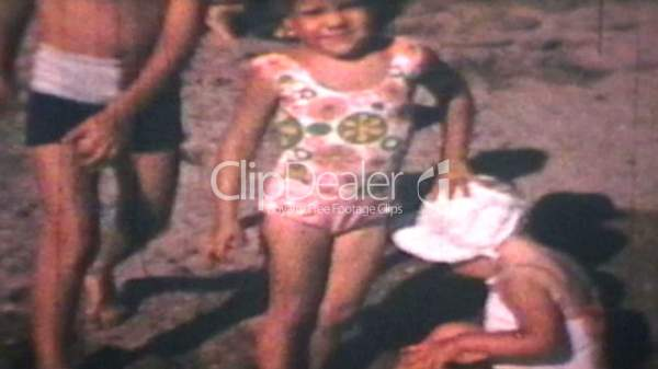 Kids At The Beach (1969 Vintage 8mm film): Royalty-free ...