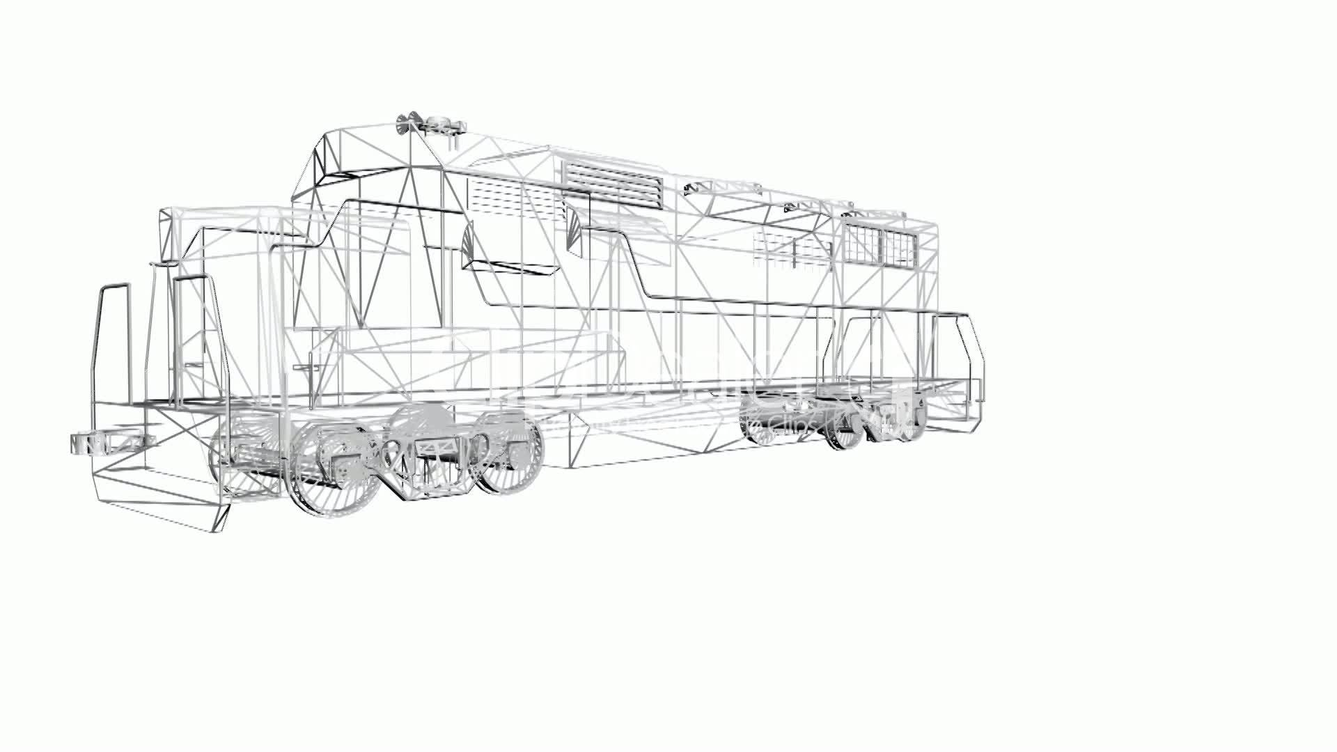 locomotive engine sketch