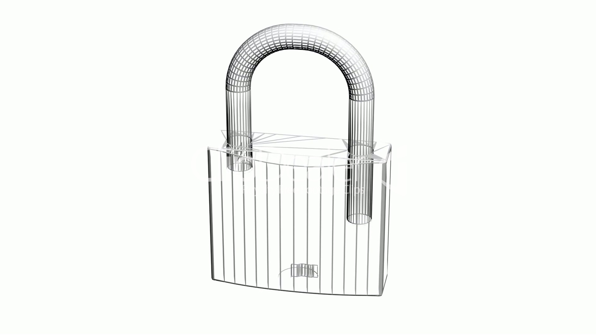 Rotation Of 3d Lock Security Padlock Safety Metal Safe