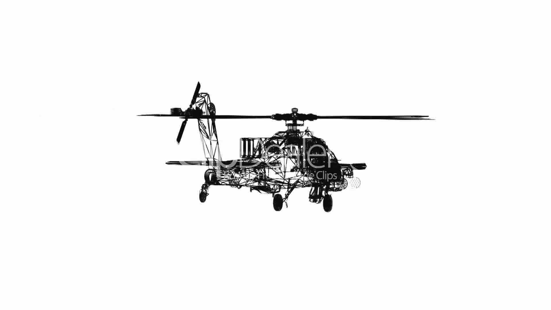 Rotation Of 3d Helicopter Tor Transport Flight Fly Air