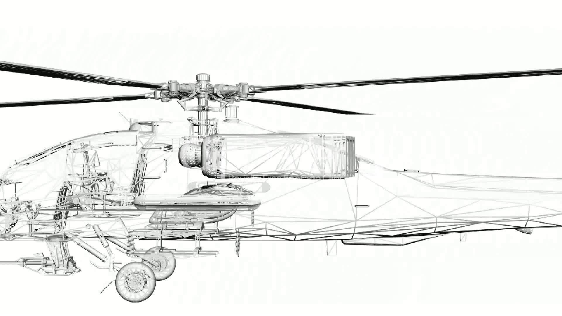 Moving Of 3d Helicoptertor Transport Flight Fly Air