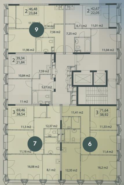 план этажа 1 подъезд 1 корпус жк виталити