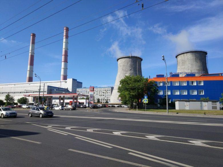 Фото ТЭЦ-8 напротив ЖК Метрополия