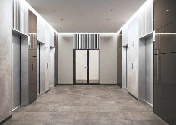 жк небо мичуринский лифтовой холл