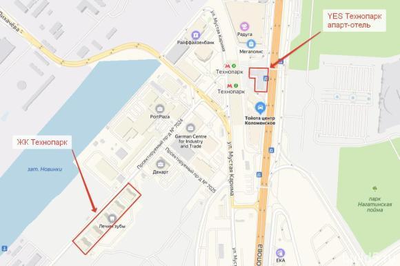 ЖК Квартал на набережной Now на карте