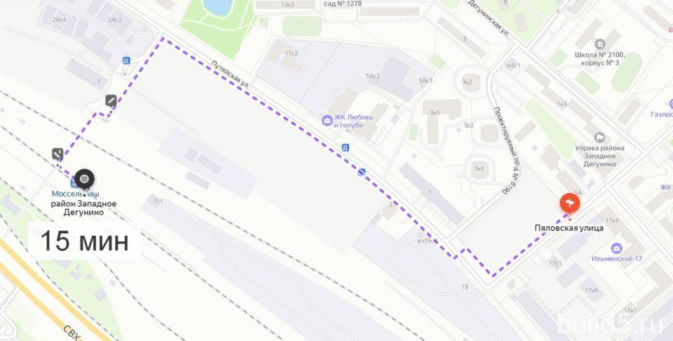 жк ильменский 17 пешком до станции моссельмаш