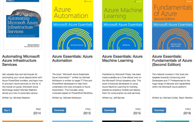 Searchable Azure Book Catalog from Build Azure