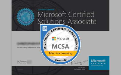 MCSA: Machine Learning Certification from Microsoft
