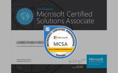 MCSA: Azure Database Development Certification from Microsoft