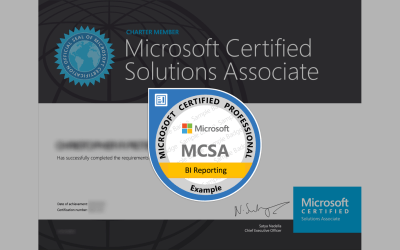 MCSA: BI Reporting Certification from Microsoft