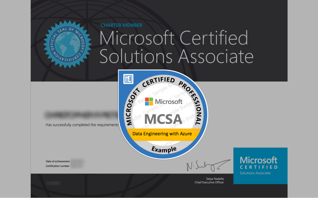 MCSA: Data Engineering with Azure Certification from Microsoft