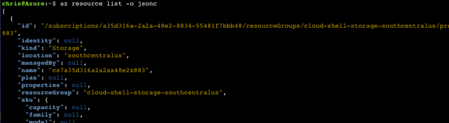Azure CLI 2.0: Make Bash Output More Readable 3